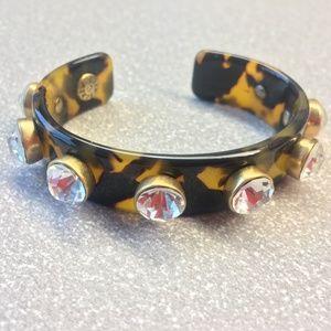 J CREW Cuff Bracelet with Rhinestones